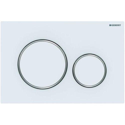 Plaque de commande pour réservoir encastré Geberit Sigma 20 plastique blanc mat 246x164mm