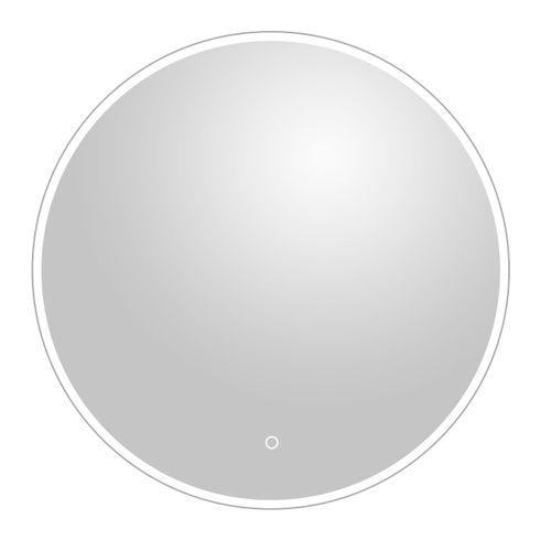Miroir Renzo rond avec éclairage LED capteur tactile et miroir chauffant Ø75cm