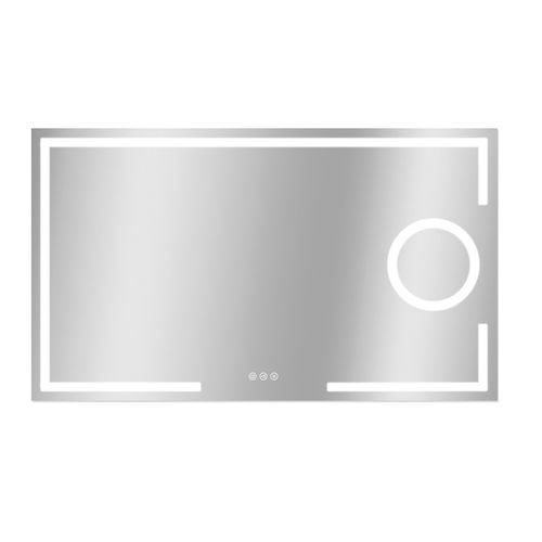 Miroir Brett rectangle avec éclairage LED capteur tactile et miroir chauffant 70x120cm
