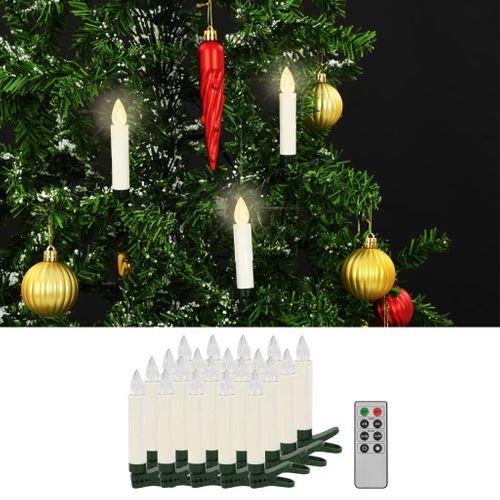 VidaXL warm wit draadloze clip-on LED kaarsen 20 stuks