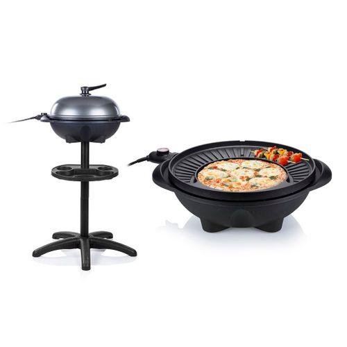 Tristar elektrische tafelbarbecue BQ2823 zwart 1600W