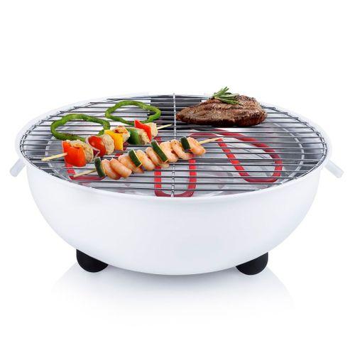 Tristar elektrische tafelbarbecue BQ2882 wit 1250W
