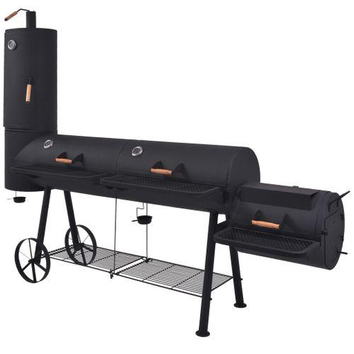 VidaXL houtskoolbarbecue + XXXL zwart