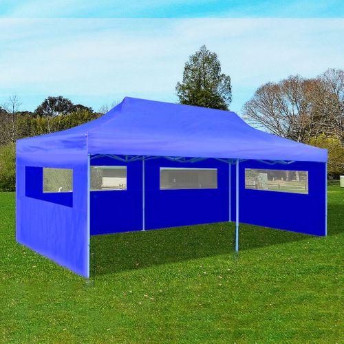 VidaXL partytent pop-up inklapbaar 3x6 m blauw