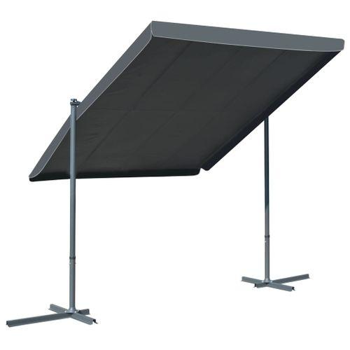 VidaXL prieel met kantelbaar/uittrekbaar dak 350x250x225 cm antraciet