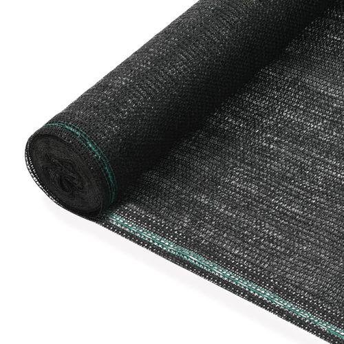 VidaXL tennisscherm 1x100m HDPE zwart
