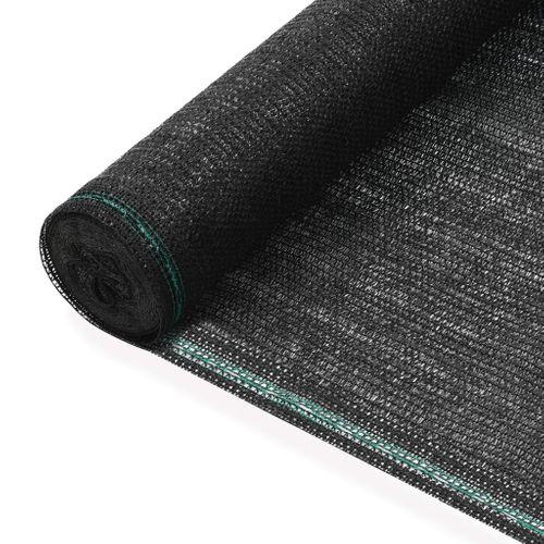 VidaXL tennisscherm 1,2x25m HDPE zwart