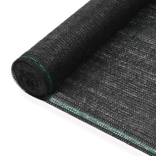 VidaXL tennisscherm 1,2x50m HDPE zwart
