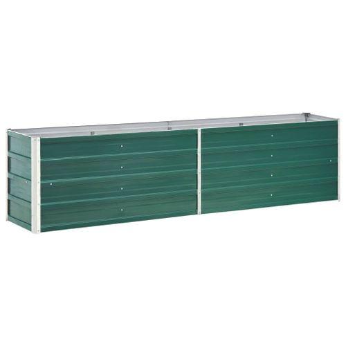 VidaXL plantenbak verhoogd 240x40x45cm gegalvaniseerd staal groen
