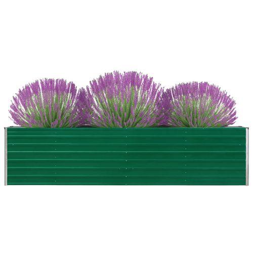 VidaXL plantenbak verhoogd 320x40x77cm gegalvaniseerd staal groen