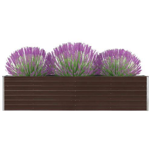 VidaXL plantenbak verhoogd 320x40x77cm gegalvaniseerd staal bruin