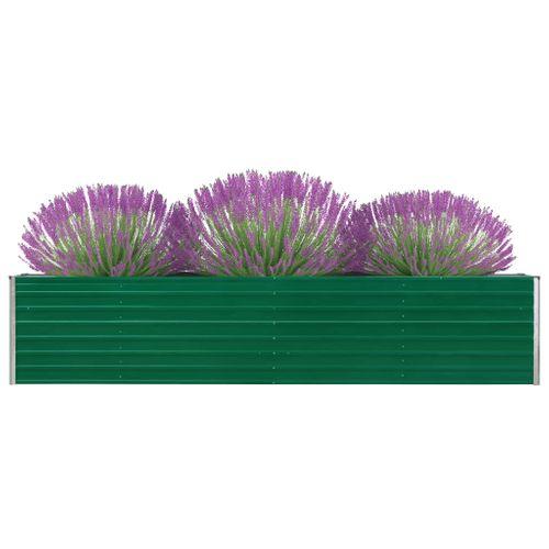VidaXL plantenbak verhoogd 320x40x45cm gegalvaniseerd staal groen