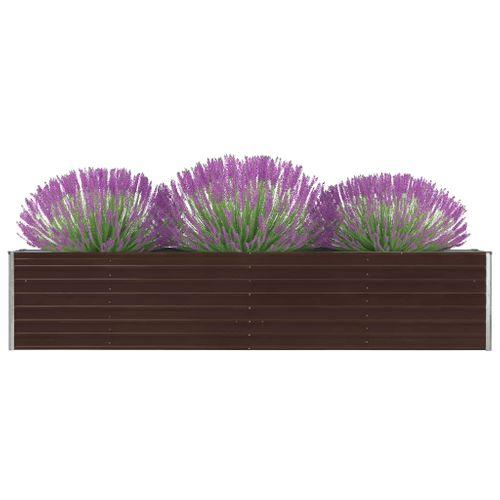 VidaXL plantenbak verhoogd 320x40x45cm gegalvaniseerd staal bruin