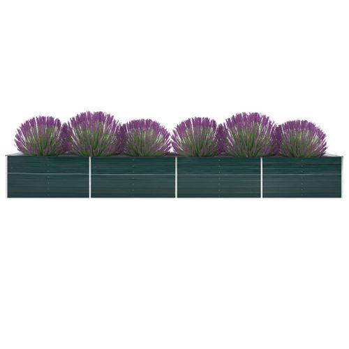VidaXL plantenbak verhoogd 600x80x45cm gegalvaniseerd staal groen