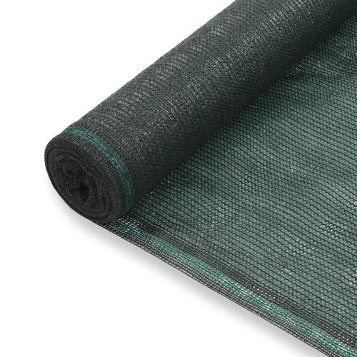 VidaXL tennisscherm 1,6x25m HDPE groen