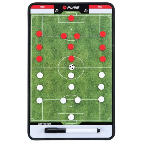 Pure2Improve coach-bord dubbelzijdig voetbal 35x22 cm P2I100680