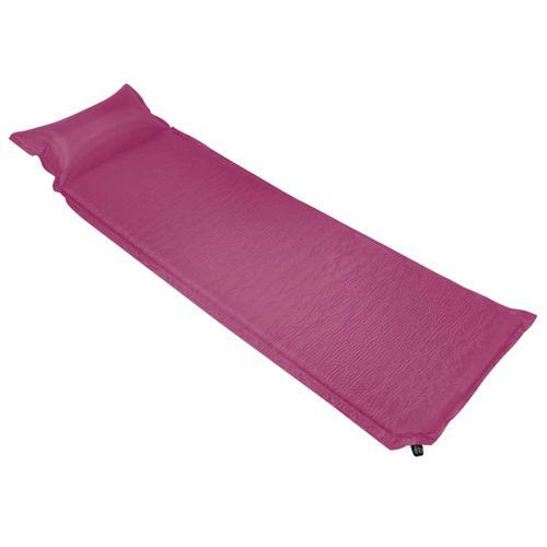 VidaXL luchtbed met kussen opblaasbaar 55x185cm roze