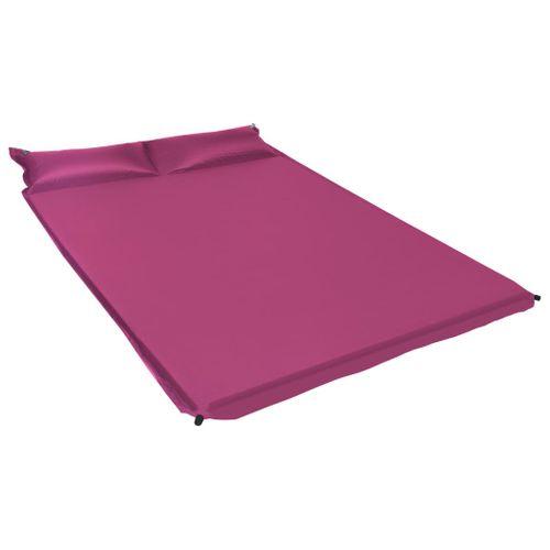 VidaXL luchtbed met kussen opblaasbaar 130x190cm roze