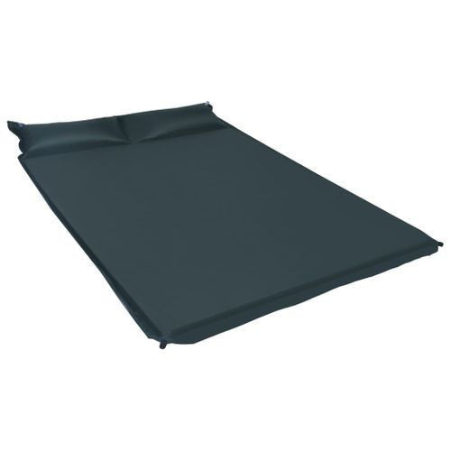 VidaXL luchtbed met kussen opblaasbaar 130x190cm donkergroen