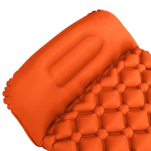 VidaXL luchtbed met kussen opblaasbaar 58x190cm oranje
