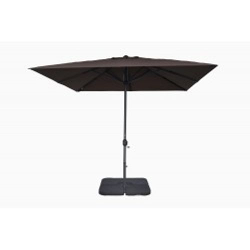 Parasol coupe-vent 3x3m Easywind Belveo Harmattan taupe