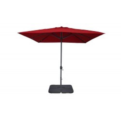 Parasol coupe-vent 3x3m Easywind Belveo Harmattan rouge