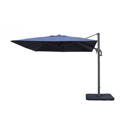 Parasol flottant coupe-vent 3x3m Easywind Belveo Foehn gris