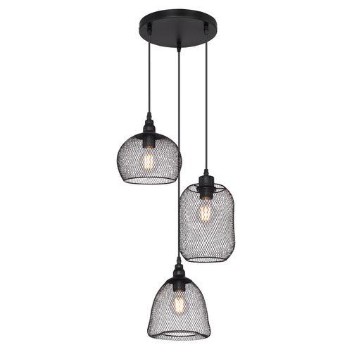 Globo hanglamp Anya-3 zwart 3xE27