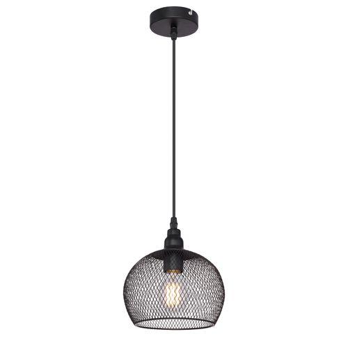 Globo hanglamp Anya 19 zwart E27