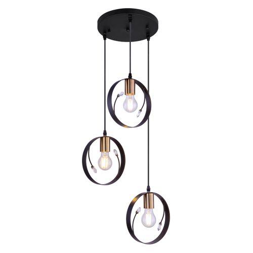 Globo hanglamp Vigo 3 zwart 3xE27
