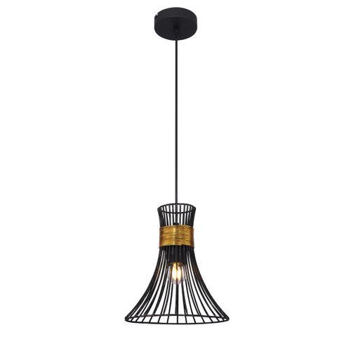 Globo hanglamp Purra 22 zwart E27