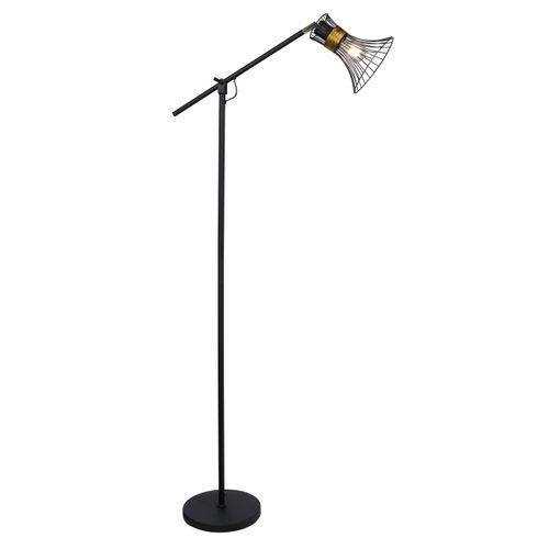 Globo vloerlamp Purra zwart E27