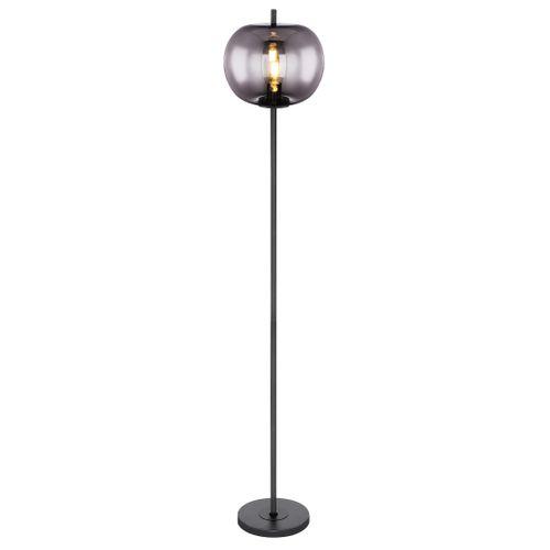 Globo vloerlamp Blacky zwart E27