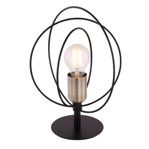 Globo tafellamp Sarini zwart E27