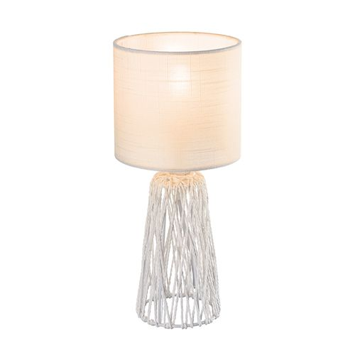 Globo tafellamp Rovale wit E14