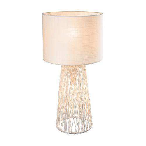 Globo tafellamp Rovale wit 2xE14