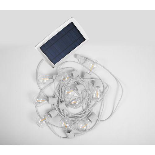Guirlande lumineuse Newgarden Allegra solaire LED 8m blanc