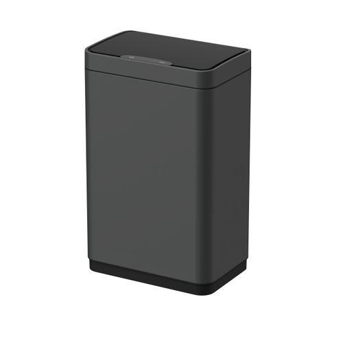 Poubelle Allibert Lycia avec détecteur 50L gris foncé