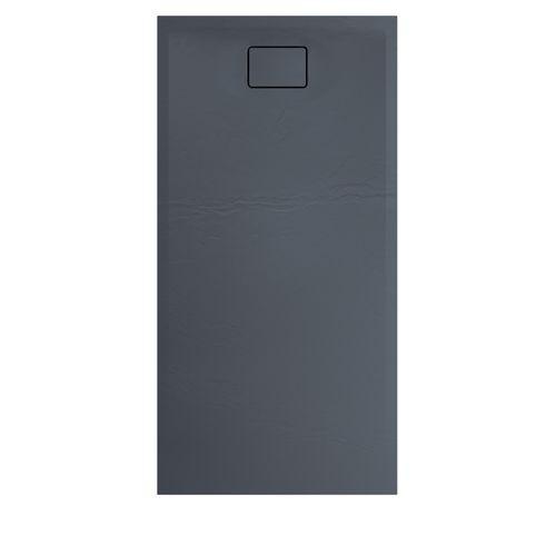 Allibert douchebak Terreno 160x80cm basalt zwart