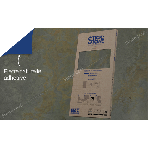 StoneLeaf wandpaneel Stick&Stone Montréal 30x60cm