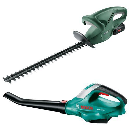Bosch elektrische heggenschaar EasyHedgeCut 18-45 & ALB 18 Li bladblazer