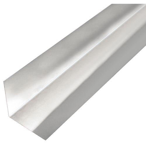 GAH Alberts gladde plaat gefacetteerd L-vorm aluminium 50x50x0,5mm 2m