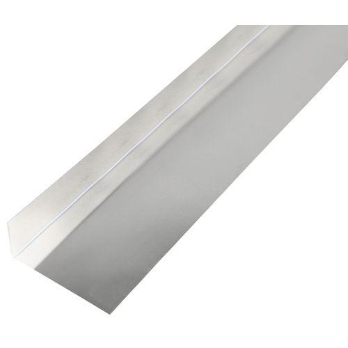GAH Alberts gladde plaat gefacetteerd L-vorm aluminium 68x30x0,5mm 2m