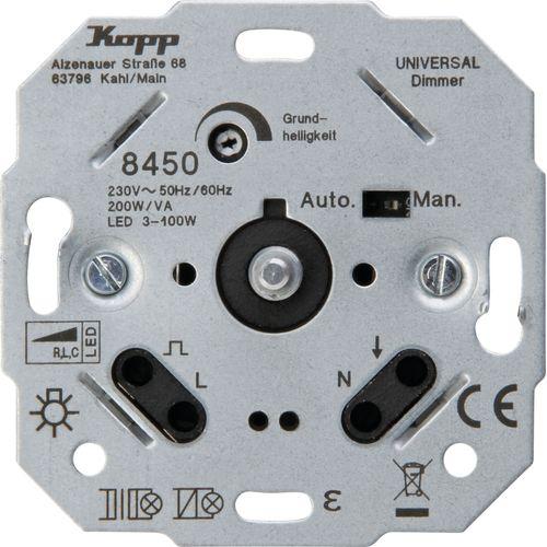 Kopp sokkel dimmer TechnikCenter inbouw LED druk RLC 3-170W