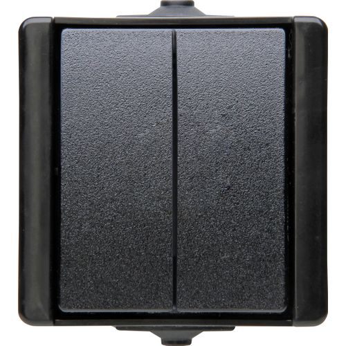 Kopp serieschakelaar ProAQA spatwaterdicht zwart