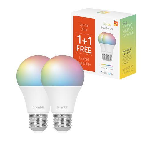Hombli ledlamp Smart Bulb RGB + CCT 9W E27 Promo Pack