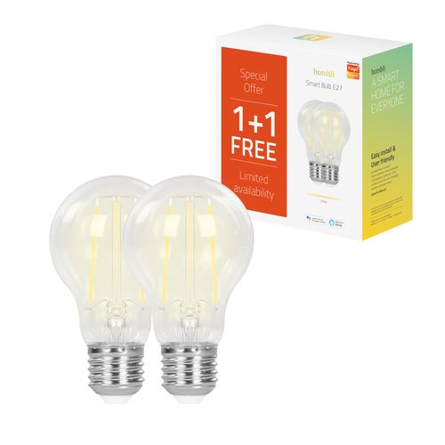 Hombli filamentlamp LED Smart Bulb 7W E27 Promo Pack
