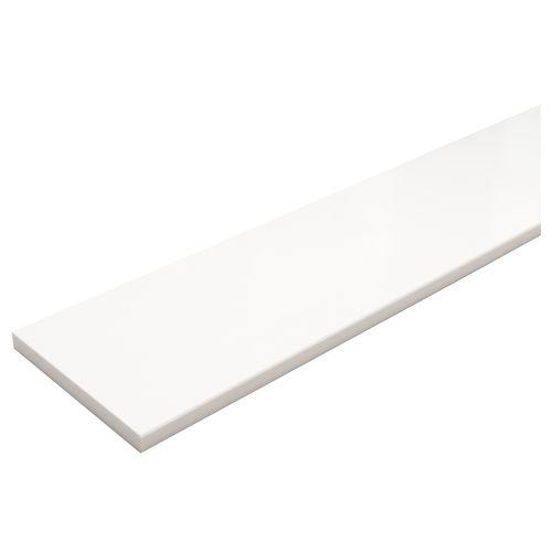 Appui de fenêtre composite blanc 100x20cm