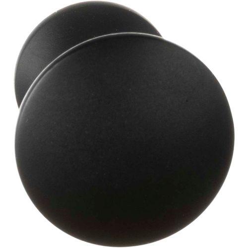 Bouton de porte Bertomani série 808 aluminium noir 22mm