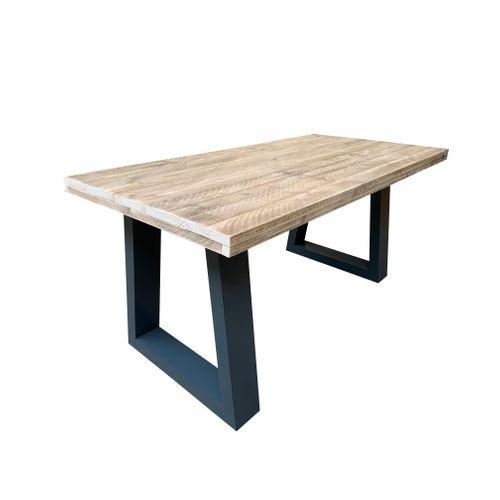 Wood4You bureau 8 steigerhout 200x57x75cm